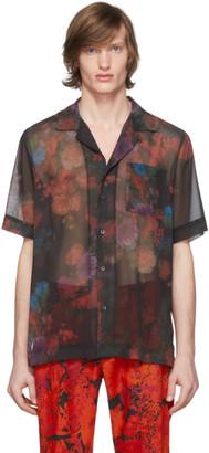 Dries Van Noten Black Floral Pocket Shirt