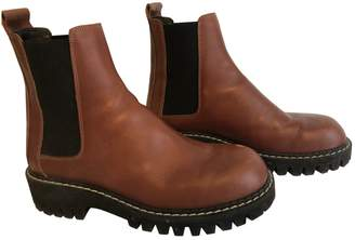 Maison Margiela Brown Leather Boots