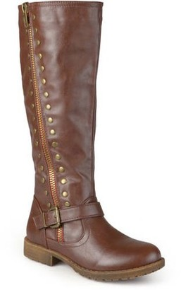Brinley Co. Women's Zipper Studded Riding Boots