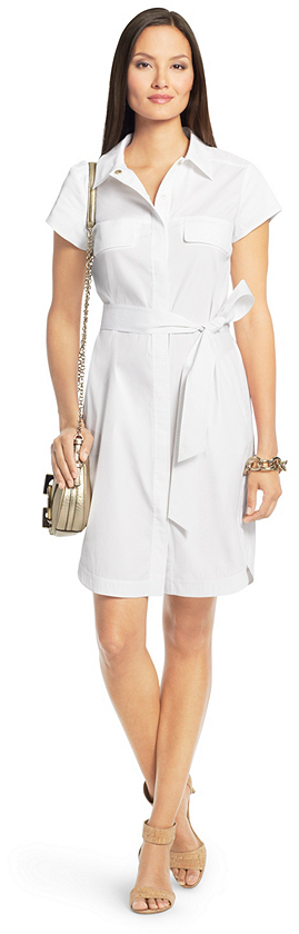 Diane von Furstenberg Aviana Short Sleeve Cotton Shirt Dress
