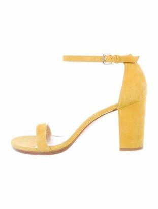 Stuart Weitzman Suede Sandals Yellow