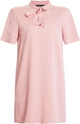 BCBGMAXAZRIA Tie-Neck Shift Dress