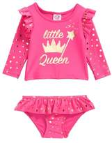 Sol Swim Little Queen Two-Piece Rashguard Swimsuit