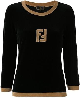 Fendi Pre Owned Long Sleeve Logo Top