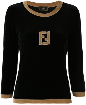 Fendi Pre-Owned Long Sleeve Logo Top