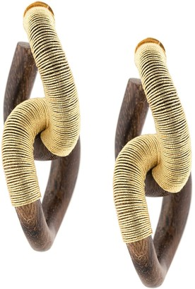 Oscar de la Renta Double Hoop Earrings
