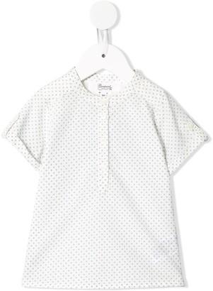 Bonpoint Polka-Dot Short-Sleeved Shirt