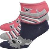 Fruit Cake Fruitcake Womens Dog Print Trainer Liner Socks Pink