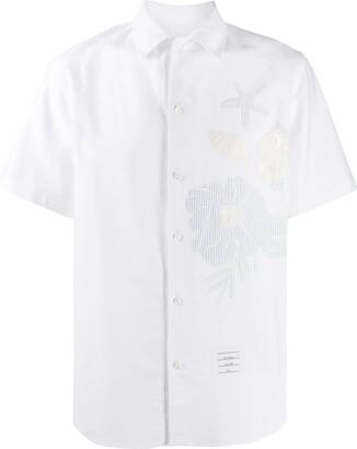 Thom Browne Ocean Floor Applique Casual Fit Shirt
