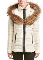 Mackage Adalina Leather-Trim Short Down Coat