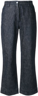 Chanel Pre Owned 1999 Flared Cropped Jeans