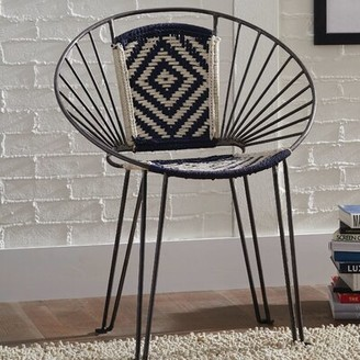 Bungalow Rose Mesa Accent Chair Upholstery Color: Navy