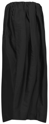 Marques Almeida Gathered Silk-taffeta Dress - Black