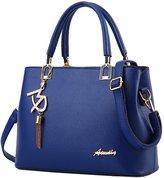 Laryana Fashion Women's Tote Pu Leather Top Handle Satchel Shoulder Handbag