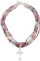 Loree Rodkin Multi-Strand Cross Necklace