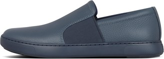 FitFlop Collins Mens Leather Slip-On Skate Shoes