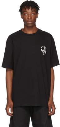 D.gnak By Kang.d Black Skull Print T-Shirt