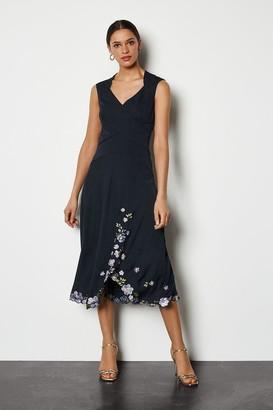 Karen Millen Scattered Floral Embroidered Dress