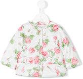 MonnaLisa rose print padded coat - kids - Polyester - 3 mth