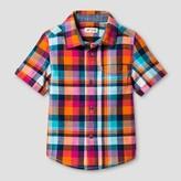 Cat & Jack Toddler Boys' Short Sleeve Plaid Button Down Shirt - Cat & Jack Multi