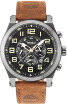 Timberland Men's Tilden Dark Brown Leather Strap Watch 48mm