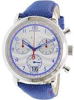 88 Rue du Rhone Men's 'Double 8 Origin' Swiss Quartz Stainless Steel and Leather Dress Watch, Color:Blue (Model: 87WA154506)