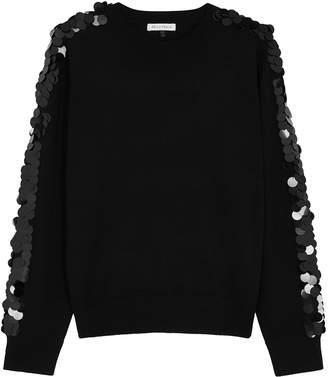 Bella Freud Lady Day black embellished wool jumper