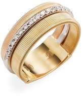 Marco Bicego Women's 18K Yellow Gold 0.26 TCW Diamond Etched Goa Ring