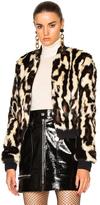 Carven Faux Fur Jacket in Animal Print.