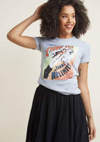 ModCloth Yes You Cannon Graphic Tee in XXXL - Short Sleeve Fitted Waist