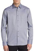 Saks Fifth Avenue Houndstooth Cotton Sportshirt