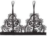 Anine Bing Stretch-lace Soft-cup Triangle Bra - Black