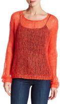 Eileen Fisher Scoop Neck Open Knit Sweater