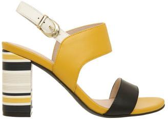 Basque Victoria Black & Yellow Leather Sandal