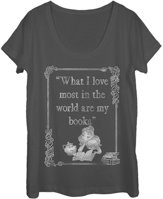 Fifth Sun Women's Tee Shirts CHARCOAL - Beauty and the Beast 'What I Love Most' Scoop Neck Tee - Women & Juniors