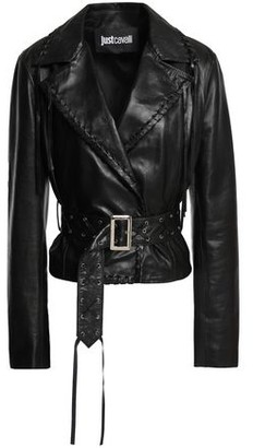 Just Cavalli Fringed Leather Jacket