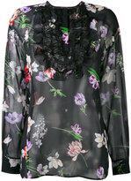 Giambattista Valli floral lace bib top - women - Polyamide/Viscose/Silk - 42