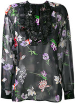 Giambattista Valli floral lace bib top - women - Silk/Polyamide/Viscose - 42