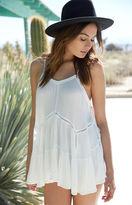 La Hearts Lace-Up Side Tunic Top