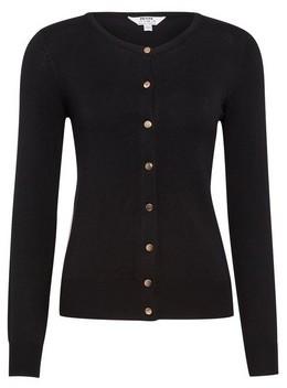 Dorothy Perkins Womens Dp Petite Black Button Cardigan, Black