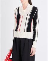 J.W.Anderson Striped chunky-knit jumper