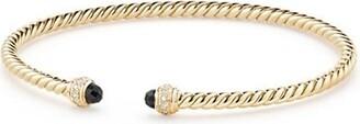 David Yurman Cable Spira 18K Yellow Gold & Diamond Bracelet