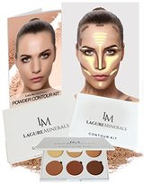 Powder Contour Kit - Premium Bronzing Powder and Contour Palette for Flawless Highlighting and Contouring - Step-by-Step Contour Guide Included