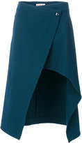 Marni wrap asymmetric skirt - women - Spandex/Elastane/Viscose/Wool - 38