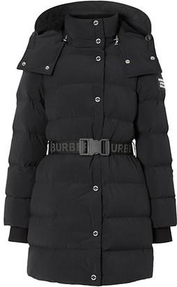 Burberry Eppingham Short Belted Puffer Coat
