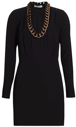 Givenchy Chain Neckline Crepe Dress