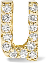 Alison Lou U 14-karat Gold Diamond Earring - one size