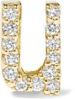 Alison Lou U 14-karat Gold Diamond Earring