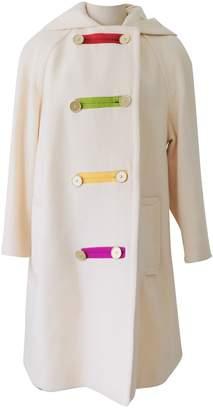 Bill Blass Beige Wool Coat for Women Vintage