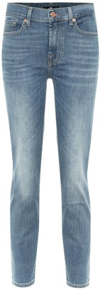 7 For All Mankind Roxanne high-rise skinny jeans